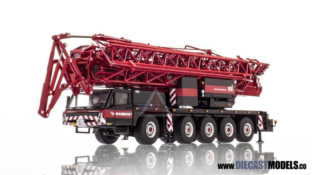 WSI 1:50 Mammoth Mammoet Spierings SK599 AT5 crane engineering crane model(China (Mainland))