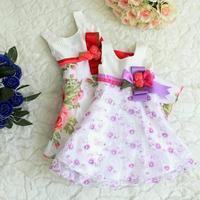 Fashion Casual Summer Princess Dress High Quanlity Baby Girl Dress Lovely Flower Sleeveless Party Vestidos