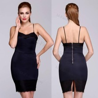 Women Summer Dress Party Clubbing Slim Dress Sexy Chic Sleeveless Splicing Lace evening party dresses
