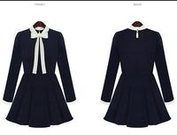 Hot Sale Women2015 Spring &Autumn Fashion Vestido Casual Long Sleeve Slim Short Dresses Plus Size S-XL Free Shipping