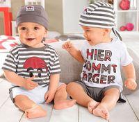 cut baby leisure sets baby boy's cartoon 3 pcs set hat+t-shirt+shorts boys summer clothing YCZ020