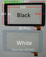 2PCS 7inch HK70DR2368(ver.2) C7000125FPVB touch screen panel capacitance glass For RK3168 Due Core Cortex-A9 186X104 Tablet PC