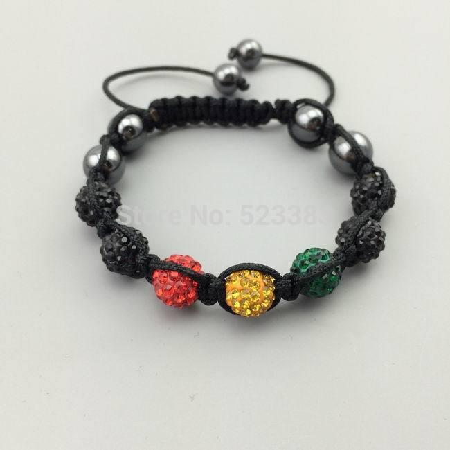 Best quality ,AB clay handmade crystal Disco Ball,10mm bead.shamballa bracelet.JEWELRY 12 pcs/lot .can mix FREE SHIPPING(China (Mainland))