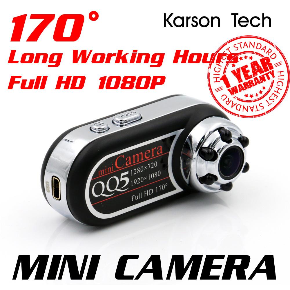 QQ5 Mini Camera Full HD 1080P 720P Infrared Night Vision DV Camera Camcorder 12MP Spy Cam Webcam 170 Wide Angle Motion Detection(China (Mainland))