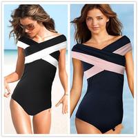 Beauty Women bathing suit Sexy one piece Swimsuit Swimwear monokini Swim Suits 1set/lot Free Shipping