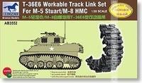 Bronco AB3552 1/35 T-36E6 Workable Track Link Set for M-5 Stuart/M-8 HMC