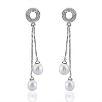 Stylish Pearl Earrings For Women New Arrival Hot Sale Fashion Stud Earrings 18K White Gold Earrings Factory Price PE020