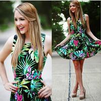 Spring Summer Women Dress, 2015 New Office Lady Chiffon Dress, Brand  Sleeveless Dresses