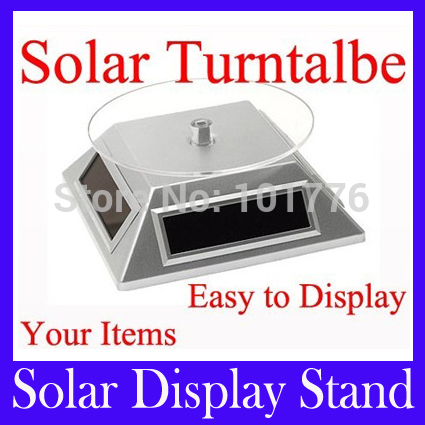 Free shipping Solar Power Turntable Rotary Display Stand Solar Turntable for Mobile phone Camera Watches diamond jewelry,MOQ=1(China (Mainland))