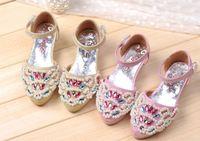 New Children'S Shoes Kids High-Heeled Sandals For Girls Princess Beading Sandals Shoes Fashion Girls Sandals Spring/Summer