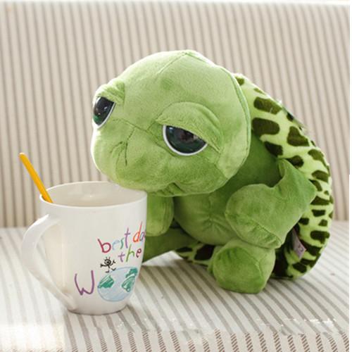 Retail 20cm Big Eyes Turtle Plush Small Stuffed Animal Tortoise Cute Toy Gift For Children(China (Mainland))
