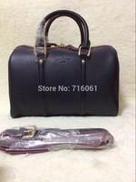 On sale high quality navy blue boston genuine leather brand designer handbag