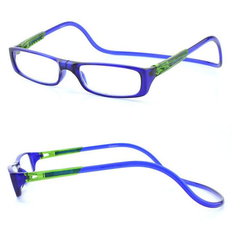Hang Neck Foldable Eyewear Magnetic Reading Glasses with Magnet 1.0, 1.5, 2.0, 2.5, 3.0, 3.5(China (Mainland))