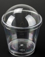 Wholesale 1000 pieces Clear Plastic Dessert Cup 6oz Blank Mousse Cup Sawdust Cup with Dome Lid