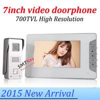 2015 New 700tvl outdoor unit camera 7inch video doorbell intercom doorphone system