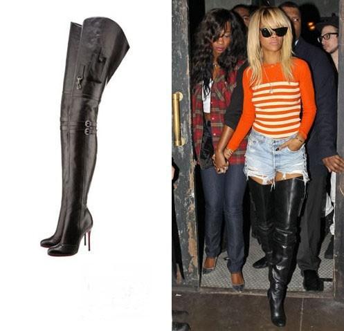 209 92 usd new beyonce thigh high heels pockets decor