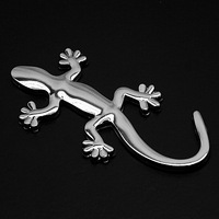 1 piece Silver or Gold Color 9.3cm Kawaii Cute Metal Animal Shape Funny Car Sticker For Automobile Tail Decoration Accessories