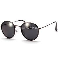 Round vintage sunglasses women matal frame sunglasses men unisex  Sun glasses with mercury lens glasses unisex hot sale 0052