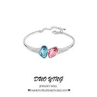 2015 Rock Long Fashion Jewelry OL Joias pulseira mujer Charm Vintage Crystal Leaves Bracelets For Women Best Friends