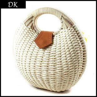 Snail's Nest 2015 Fashion Women's Handbag Rustic Straw Bag Rattan Bag Handbag Shell 6 Colors Bag Brand Totes Knitted Beach Bags(China (Mainland))