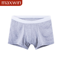 Summer new arrival maxwin male modal panties boxer shorts solid color boxer panties