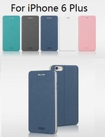 Genuien MOFI PU Leather Case For iPhone 6 Plus,Folding Design,5 Colors+Screen Protector,Free Shipping