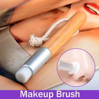 Nose Pore Deep Clear Brush Face Brush Blackhead Whiteheads Remover  Wood  Handle Aluminum Tube Portable Hot Sale Professional