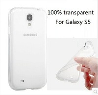 100 PCS/LOT,Full Transparent Case For Samsung  Galaxy S5 i9600,Almost Invisible Soft Cover,0.5mmT Slim,Free Shipping