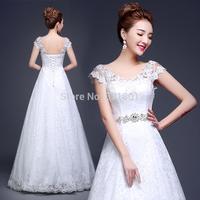 a line wedding dress new 2015 lace wedding dresses wedding gowns vestidos de noivas bride fashionable casamento 744