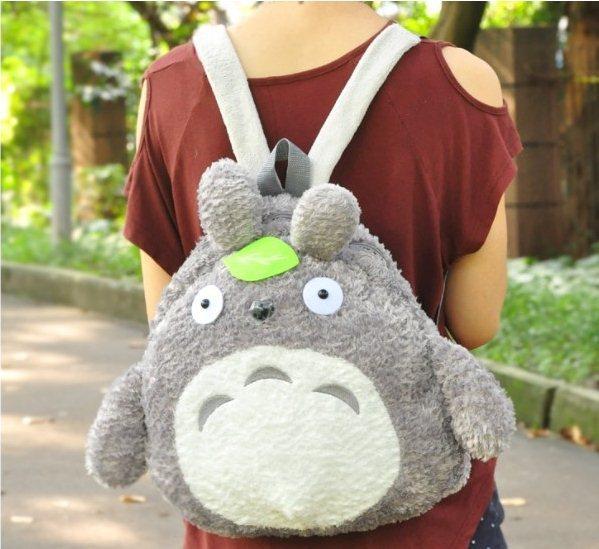 2015 Japanese Style Women Fashion Cute Cartoon Totoro Backpacks Students Backpacks F2211(China (Mainland))