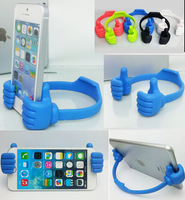 New rubber universal thumb up mobile phone stand holder/tablet holders for iphone 4 4s 5 5s 6 6plus for Samsung galaxy s5