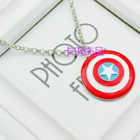 Captain America: The Winter Soldier Shield necklace pendant necklace pentagram Shield Necklace