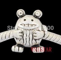 70pcs/lot Vnistar size in 10*14mm big hole frog shaped european bead  PBD1043