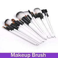 Professional 20Pcs Makeup Eye Shadow Lip Brush Set Multi-Function Wood White Handle Black Tube Factory Direct Sale Pincel Makeup