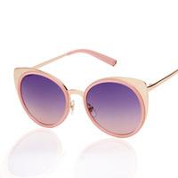 2014  sunglasses women cat eyes sunglasses vintage brand designer sun glasses eye glasses mercury  lens wholesale JHSG011