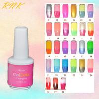 Top quality RNK color changing gel long lasting nail gel polish varnish choose 12pcs free shipping