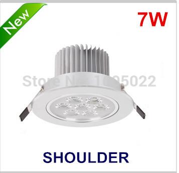 free shipping AC85-265V led 7w led downlights best price light led home lighting lampada led para banheiro(China (Mainland))