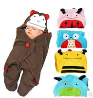 Children new born kids boys girls baby animal style cart blankets spring autumn polar fleece fabric cartoon sleeping bag