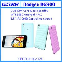 Original Doogee dg800  cell phone Android 4.4.2 MTK6582 Quad Core 8GB ROM 1GB RAM Gesture Sensor Dual Camera 3G cheap phone