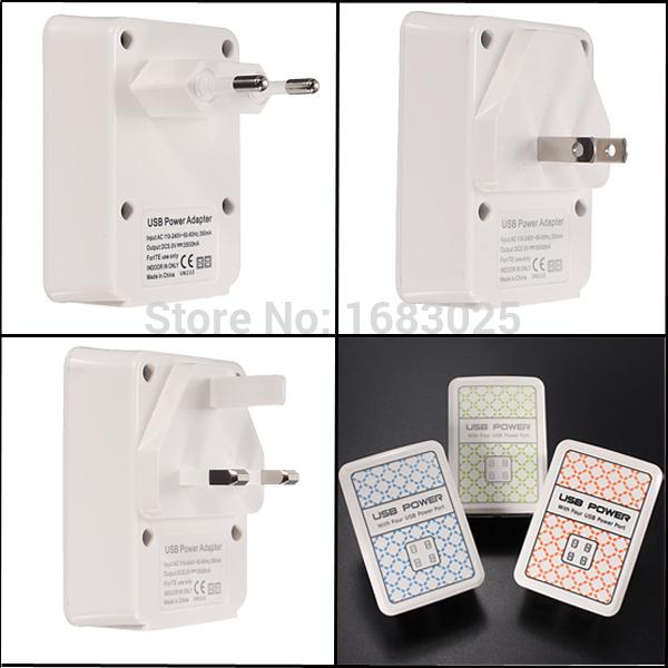Good Qualit Modern Design Pretty 4 USB Port Power Adapter HUB Wall Charger For iPhone For iPad For Samsung UK/US/EU Plug(China (Mainland))