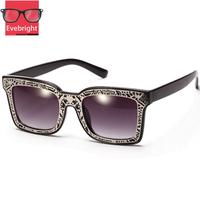 2015 New Fashion Sunglasses Brand Designer Metal Frame Sunglasses Retro Vintage Womens square Sunglasses Oculos De Sol Feminino