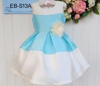 Factory-Directly Wholesale Flower Girl's Dress Summer Sleeveless Baby Lantern Sundress Children Party Dress