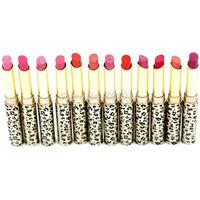 Lipsticks Lip Stain The Balm Makeup Lot Hot Fashion Leopard 12Pcs 12colors Moisturizing Sweet Red Lip Stick Set P8505