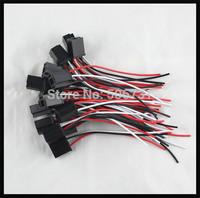 Car headlight plastic plug H4 headlight lights socket holder H4 lamps Holder 3 Pin Plug H4 Ceramic Socket