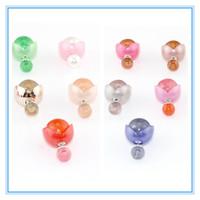 Double Side Wear Pearl Flower Stud Earring Elegant Temperament Pearl Earrings Flower Earrings For Women Girls