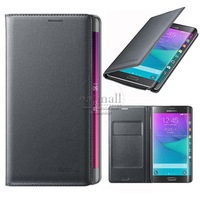 New Top PU Leather flip Cover for Samsung Galaxy Note Edge Wallet case N9150 Luxury as Original card holder Mobile Phone Bags