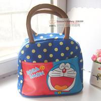 Cartoon Doraemon Cute Lunch Bag Shopping Bag Hand Bag Blue Free Shipping