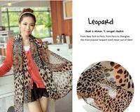 Hot Sale ! 2015 Leopard Scarf  Women Chiffon Silk Print Fashion Shawl And Scarves Vintage Autumn Winter Wild Cachecol Feminino