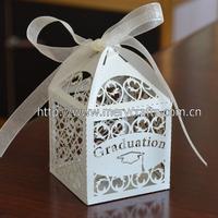 laser cut party decorations,graduation gifts boxes,graduation favor boxes