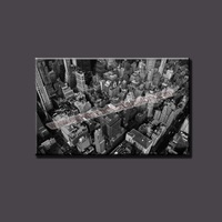 Modern Home City Art Printed Painting Black and White Canvas Art Painting Digital Paintings on Canvas Unframed for the Home